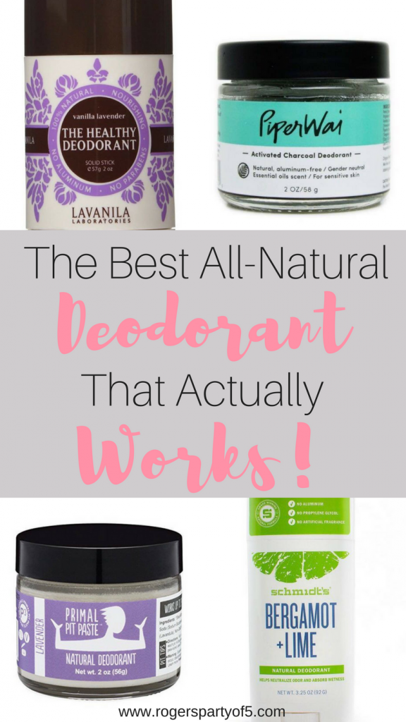 The best all natural, aluminum-free deodorant that actually works!