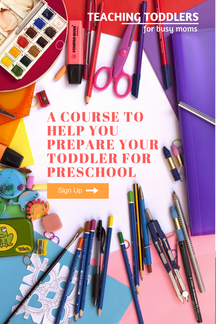 *Affiliate* A FUN course for busy moms to help prepare toddlers for preschool.