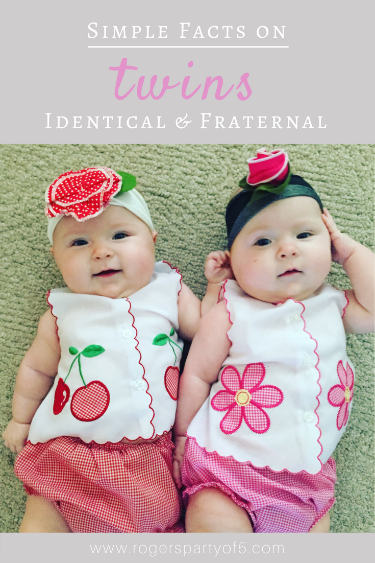 Are you a twin parent, wondering if your twins are identical or fraternal? Read on for a few simple facts on the differences between identical and fraternal twins, plus one twin mom's surprising results!