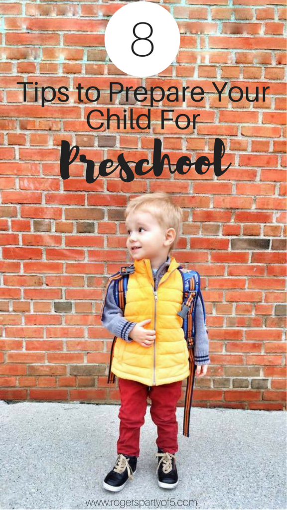 As the school year approaches, you are probably wondering how to prepare your child for preschool. Here are 8 tips to help prepare your child for preschool. | first day of school | preschool preparation | preschool readiness | parenting advice |
