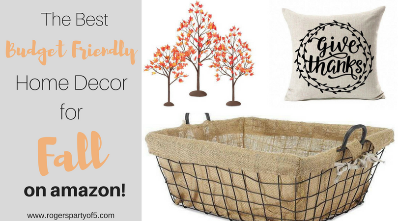 Looking for affordable fall decor? Here is a roundup of fall decorations that are budget friendly and adorable and perfect for every room in your house.